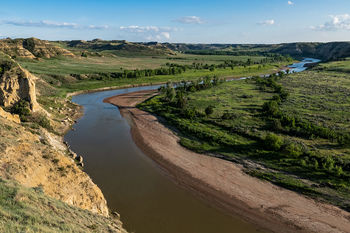 Theodore Roosevelt National Park, south unit, Wind Canyon, Little Missouri River